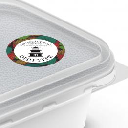 Chinese Takeaway Label - Koi Design Dish