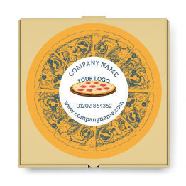 Pizza Takeaway Label - Large Logo Design