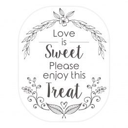 Love is Sweet Clear Stickers