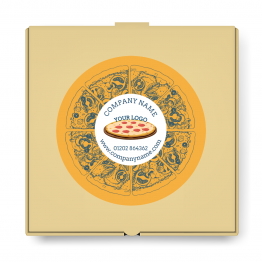 Pizza Takeaway Label - Medium Logo Design