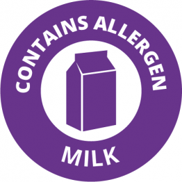 Allergen Labels - Contains Milk - 35mm Single Sheet