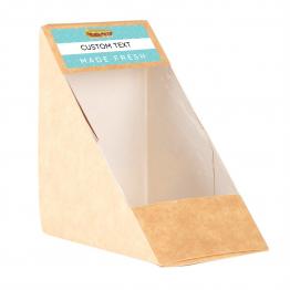 Sandwich Label (small) - Modern Blue Pattern