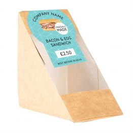 Sandwich Label - Modern Blue Pattern