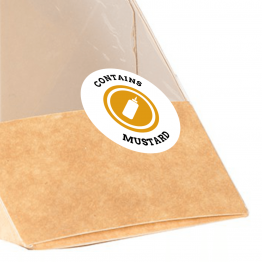 Allergen Label - Contains Mustard