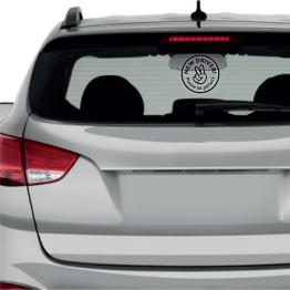 New Driver Peace Sign Window Sticker