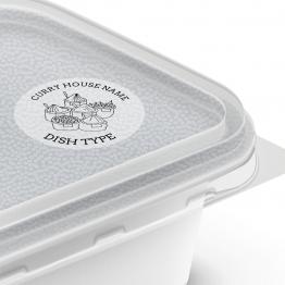 Clear Sticker - Takeaway Dish Type