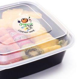 Clear Sticker - Organic Fruits