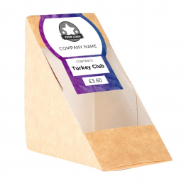 Sandwich Label - Palm Tree Design