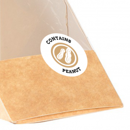 Allergen Label - Contains Peanut