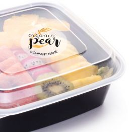 Clear Sticker - Organic Pear