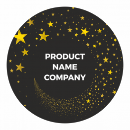 Product Label - Black/Gold Stars