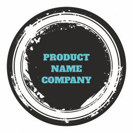 Product Label - Black Graffiti Design