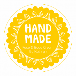 Handmade Product Label - Yellow Sun
