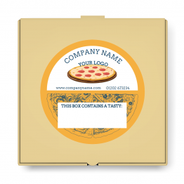 Pizza Takeaway Label - Note Design
