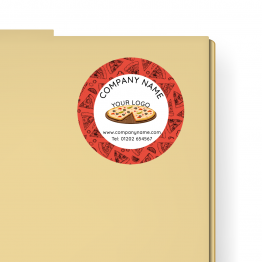 Pizza Takeaway Label - Generic Pattern Design