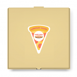 Pizza Takeaway Label - Pizza Slice