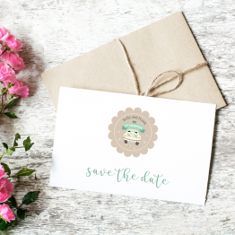Wedding Labels - Save the Date Vintage Car