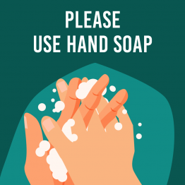 Please use hand soap square sticker