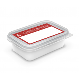 Chinese Takeaway Label - Red Pattern