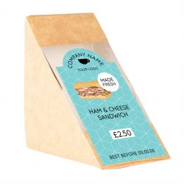 Sandwich Label (Arch) - Modern Blue Pattern