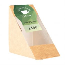 Sandwich Label - Green Triangle Design