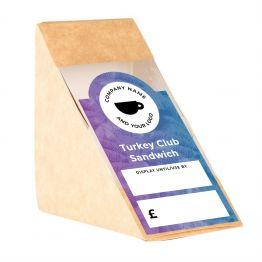 Sandwich Label (Arch) - Palm Tree Design