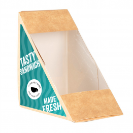 Sandwich Label (Triangle) - Wavy Design