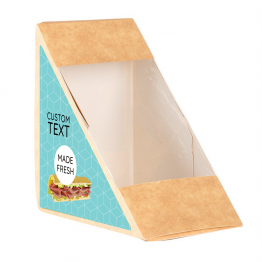 Sandwich Label (Triangle) - Modern Blue Pattern