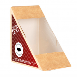 Sandwich Label (Triangle) - Chevron Design
