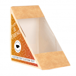 Sandwich Label (Triangle) - Geometric Design