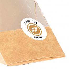 Allergen Label - Contains Sesame