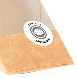 Allergen Label - Contains Molluscs