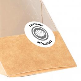 Allergen Label - Contains Molluscs