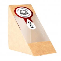 Sandwich Label (Lollipop) - Simple Arrow Design