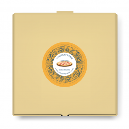 Pizza Takeaway Label - Small Logo Design