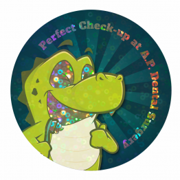Smiley Croc Large Sparkly Stickers