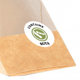 Allergen Label - Contains Soya