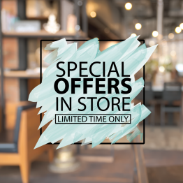 Special Offers Scribble Vinyl Window Sticker