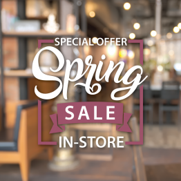 Spring Sale Vinyl Window Sticker