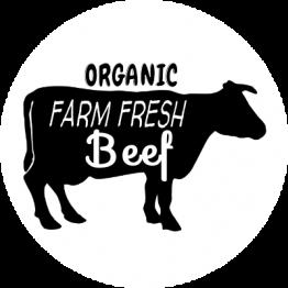 "Butcher Sticker - ""FARM FRESH"" Black and White Circle"