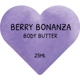 Beauty Product Labels - Berry Bonanza Heart Stickers