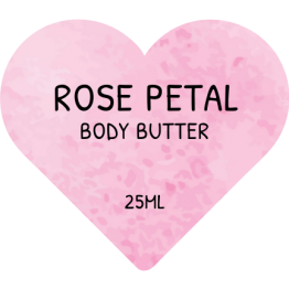 Beauty Product Labels - Rose Petal Hearts