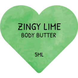 Beauty Product Labels - Zingy Lime Hearts