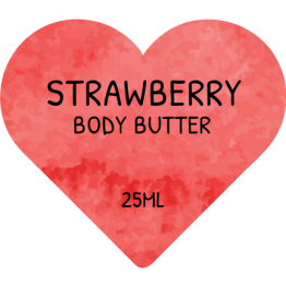 Beauty Product Labels - Strawberry Heart Shaped Stickers