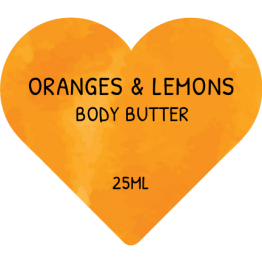 Beauty Product Heart  Shaped Labels - Oranges & Lemons