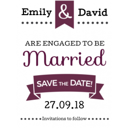 Save the Date Magnet Design