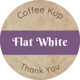 Coffee Shop Product Label - Flat White