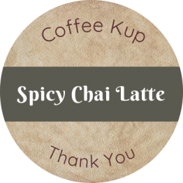 Coffee Shop Product Label - Spicy Chai Latte