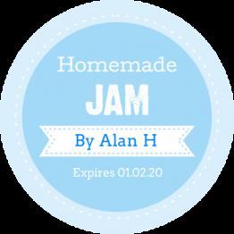 Jam Jar Labels - Homemade Jam Blue Sticker