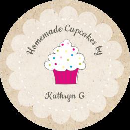 Homemade Cupcake Labels - Paper Design